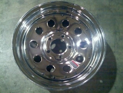 "13"" X 4.5"" Chrome Modular Hole Rim  5Hx4.5 BP with Rivets"