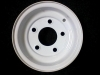 "10"" x 6"" Gloss White Rim 5H x 4.5"" Bolt Pattern"