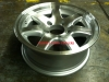 "13"" Aluminum7 Spoke Rim 13x4.5 5Hx4.5 BP"