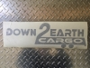 "D2E Enclosed Trailer Logo Decal 7"" x 20"""