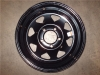 "13"" Gloss Black Spoke Rim Clear Coat, 5 x 4.5"" BP"